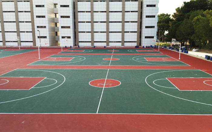 Acrylic Basketball Court Construction
